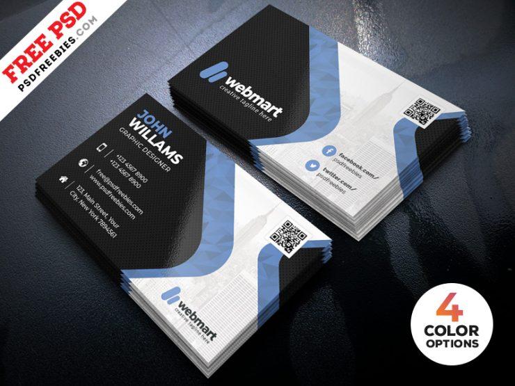 Business Card Design PSD Template Bundle