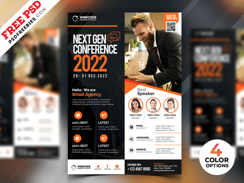 conference promotion flyer design psd psdfreebies com