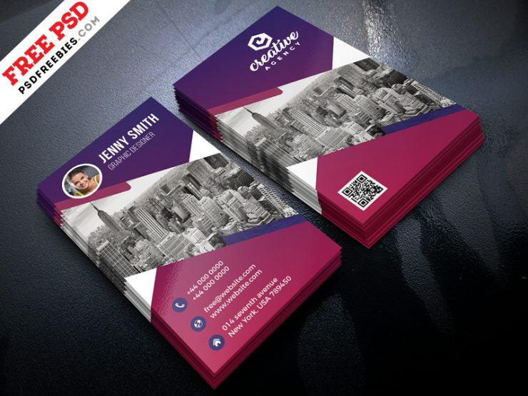 Creative Business Card Design Free PSD
