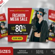 Fashion Sale Ad Banners PSD Set