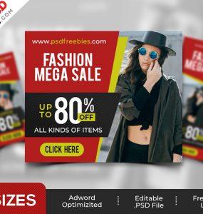 Fashion Sale Ad Banners PSD Set