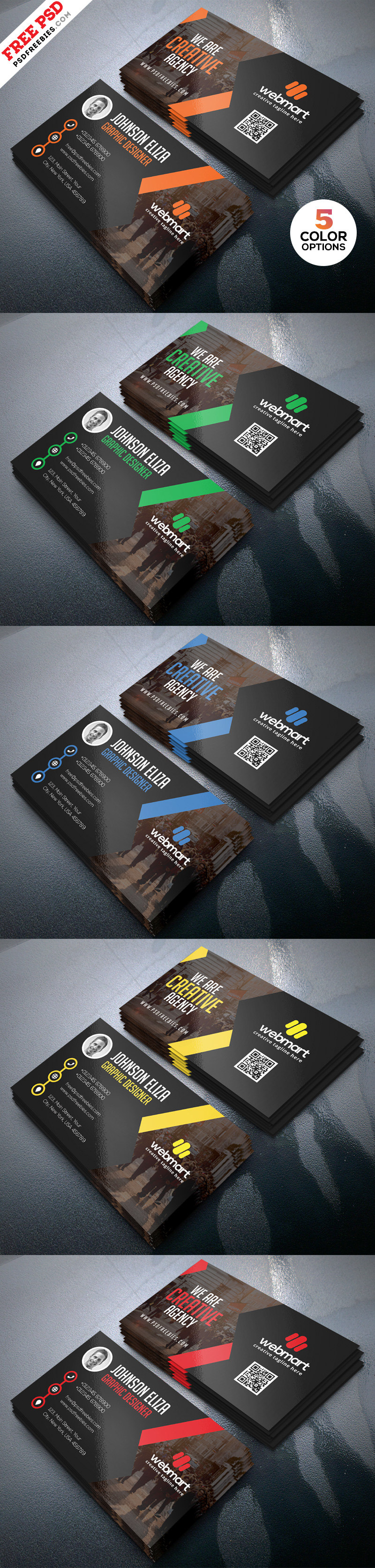 Free Business Card PSD Template