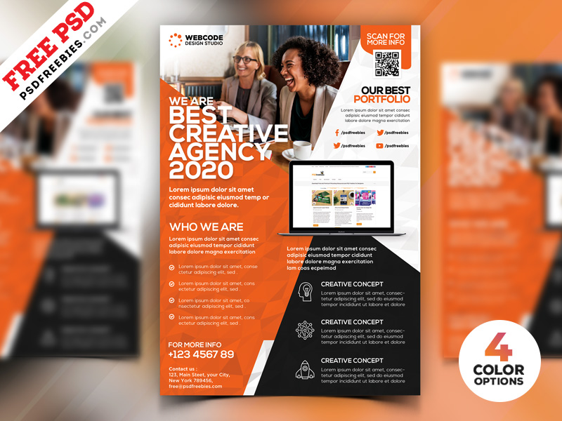 Modern Corporate Flyer Template Psd Bundle Psdfreebies