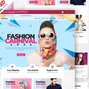 Multipurpose e-Commerce Website PSD Template