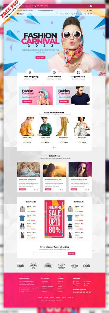 Multipurpose e-Commerce Website PSD Template