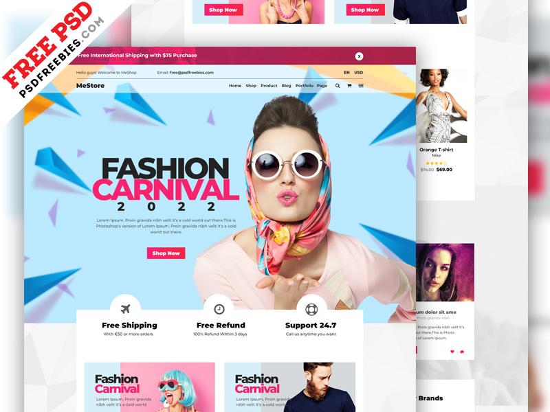 Multipurpose ECommerce Website PSD Template