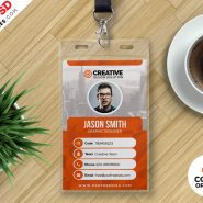 Office ID Card Design PSD Bundle
