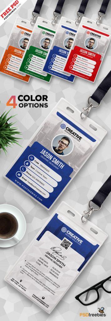 Office ID Card Design PSD Bundle