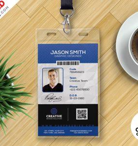 Office ID Card Design PSD Set
