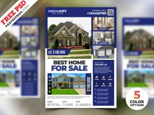 Real Estate Flyer Design PSD Set