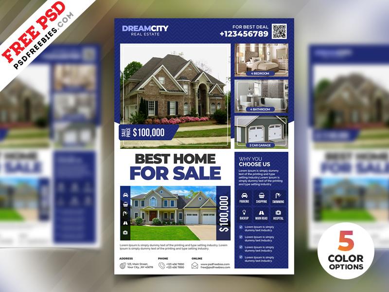 Real Estate Flyer Design PSD Set