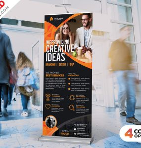 Roll-Up Banner Free PSD Bundle