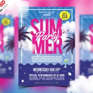 Summer Party Flyer Design PSD Template