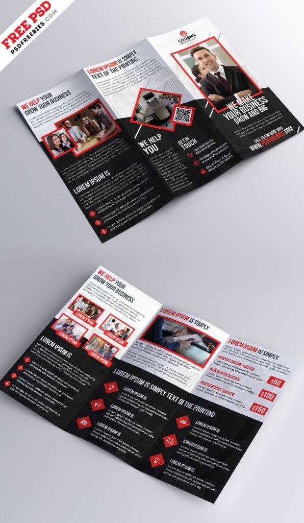 Tri-fold Brochure Design PSD Template