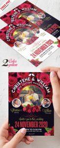 Wedding Invitation Card Template PSD Set