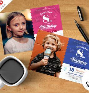 Birthday Party Invitation Template PSD Bundle