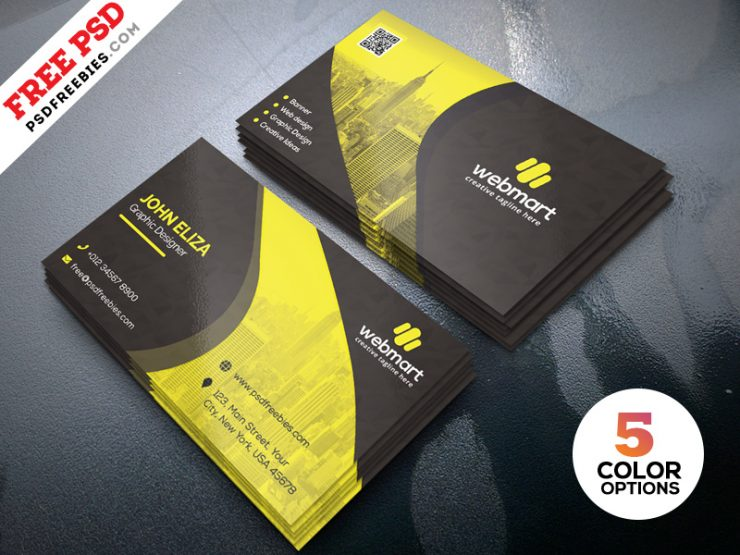 Business Card Template PSD Set