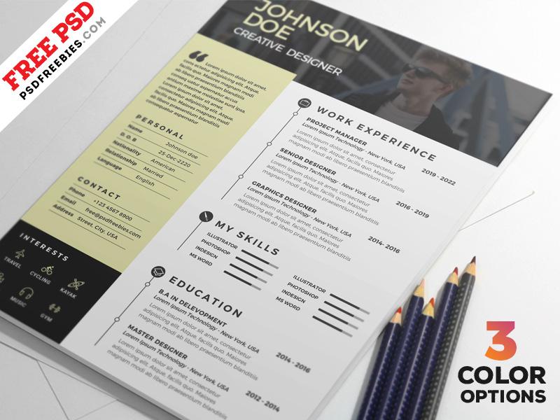 Clean Resume PSD Template Bundle