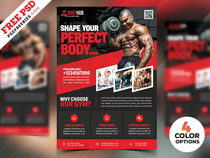 Fitness Gym Flyer PSD Templates Bundle