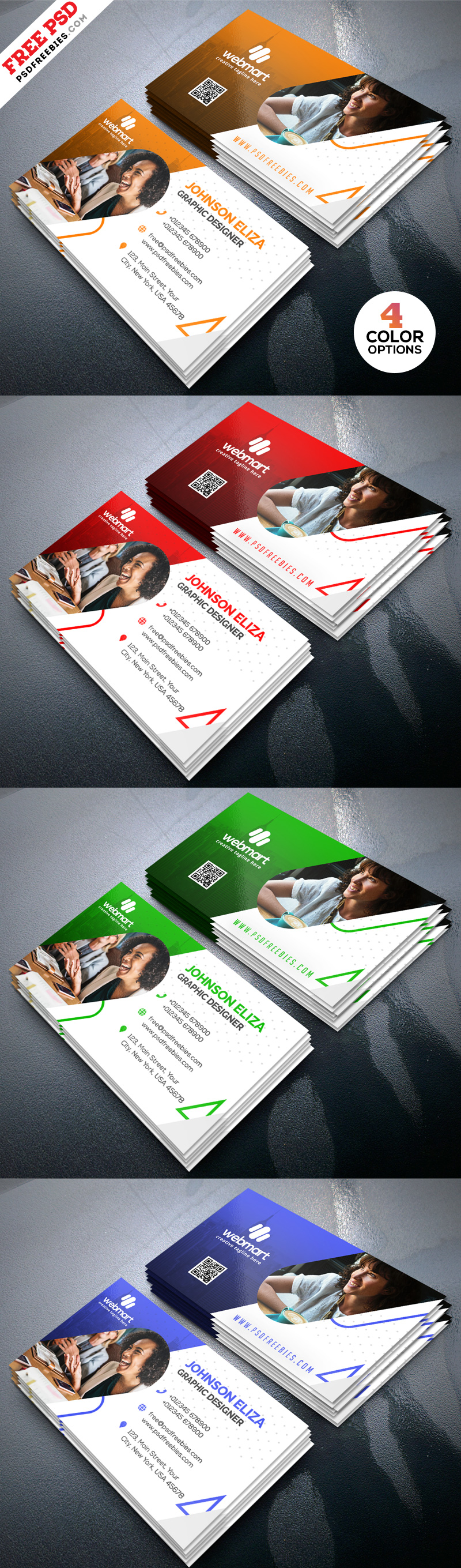 Modern Business Card Design Templates PSD