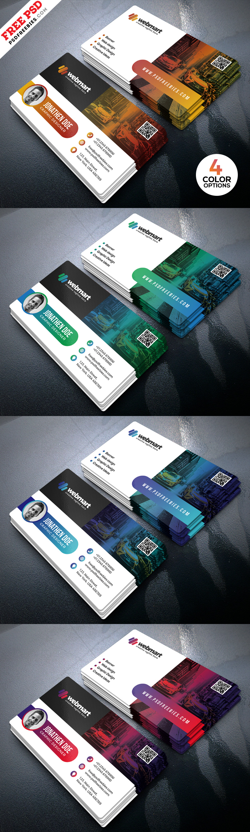 Modern Business Card Designs PSD