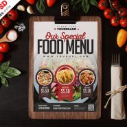 Restaurant Food Menu Card Design PSD