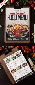 Restaurant Food Menu Card Design PSD