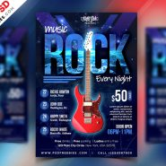 Rock Music Event Flyer PSD Template