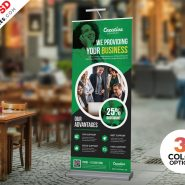 Roll-up Banner Design PSD Set