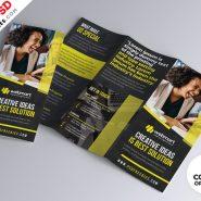 Tri-Fold Brochure Design PSD Set