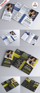 Tri-Fold Brochure Design PSD Set
