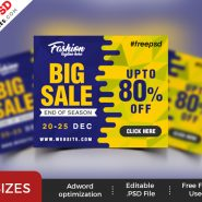 Big Sale Web Banner PSD Templates