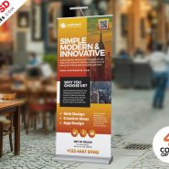 Business Roll-up Banner PSD