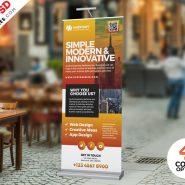 Business Roll-up Banner PSD