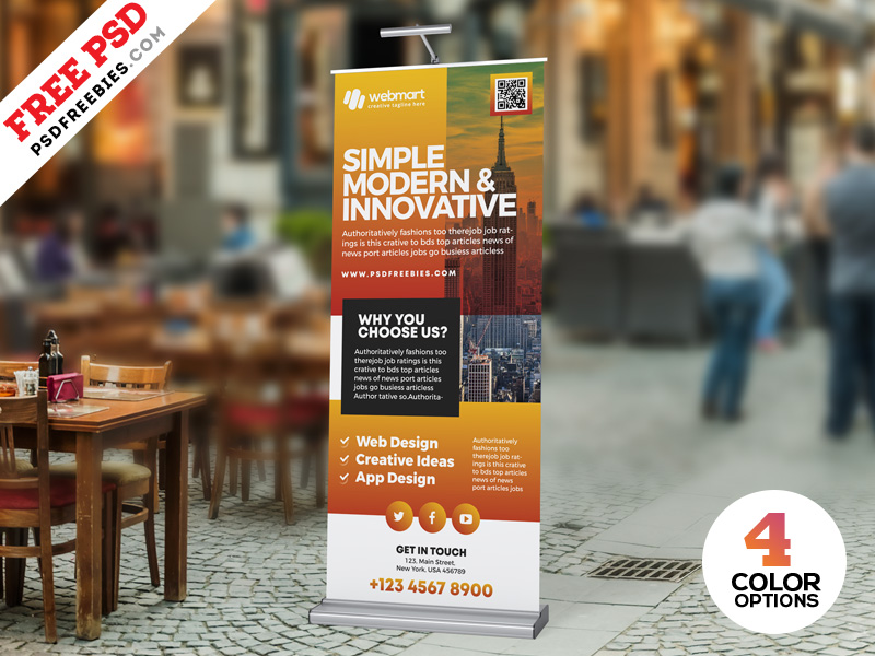 Business Roll Up Banner PSD