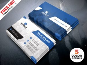 Clean Business Card Templates PSD