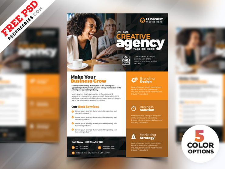 Creative Business Flyer PSD Templates