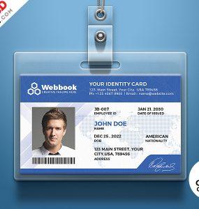 Free ID Card Template PSD Set