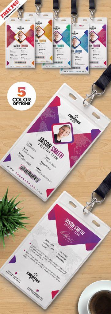 Identity Card Templates PSD Set