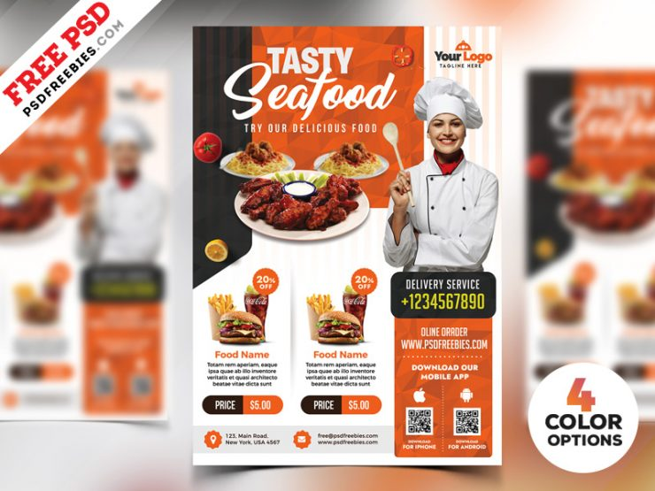 Restaurant Flyer Templates Free PSD
