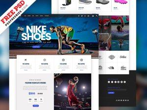 Sports Store E-commerce PSD Template
