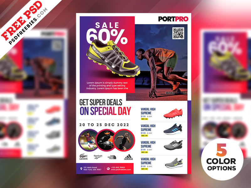sportswear sale flyer psd templates psdfreebies com