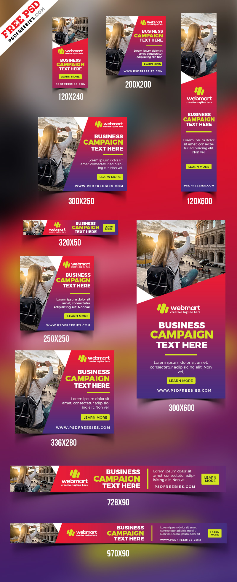 Web Ad Banner Templates PSD Set