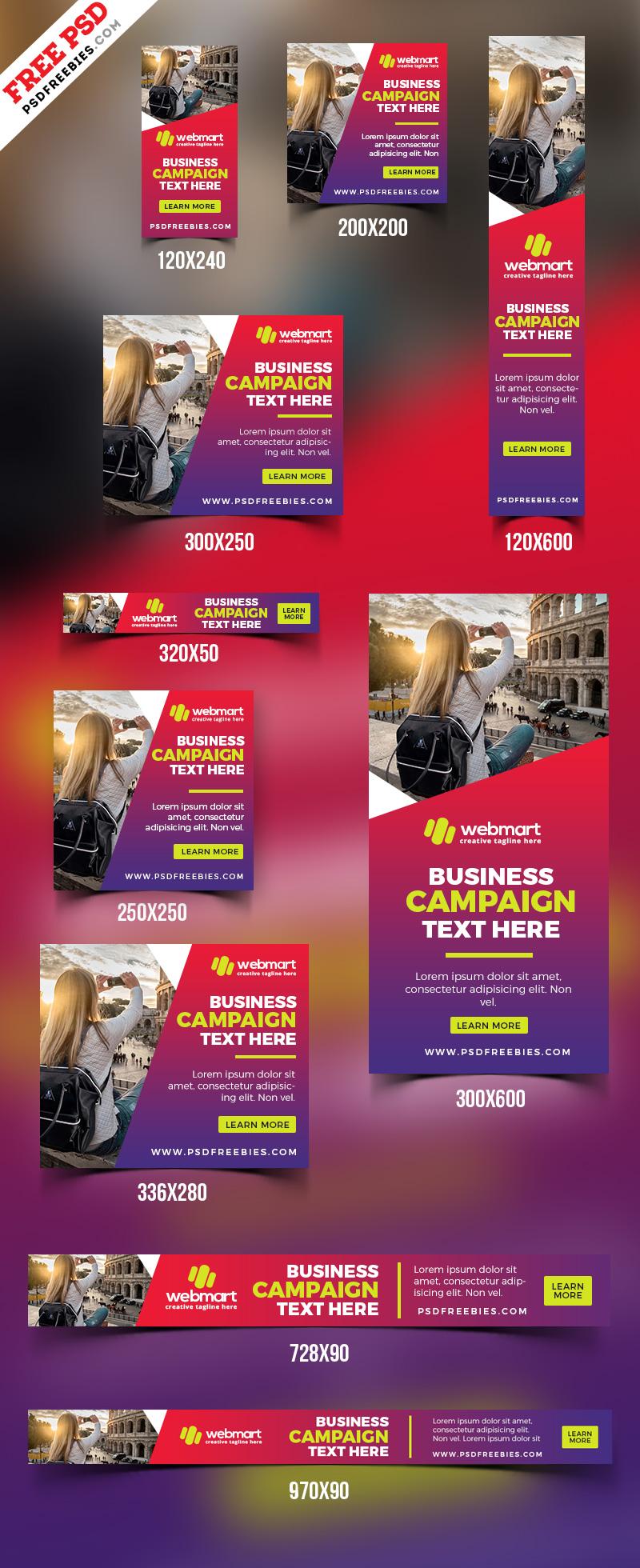 Web Ad Banner Templates PSD Set