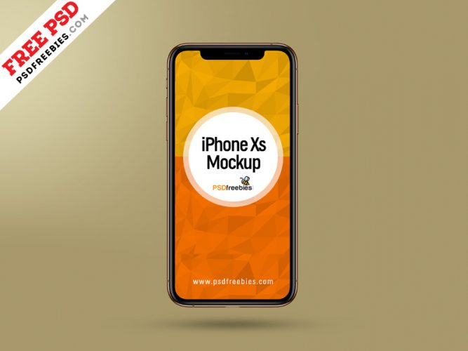 Apple iPhone Xs Mockup PSD