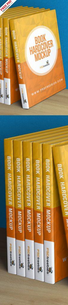 Book Hardcover Mockup PSD