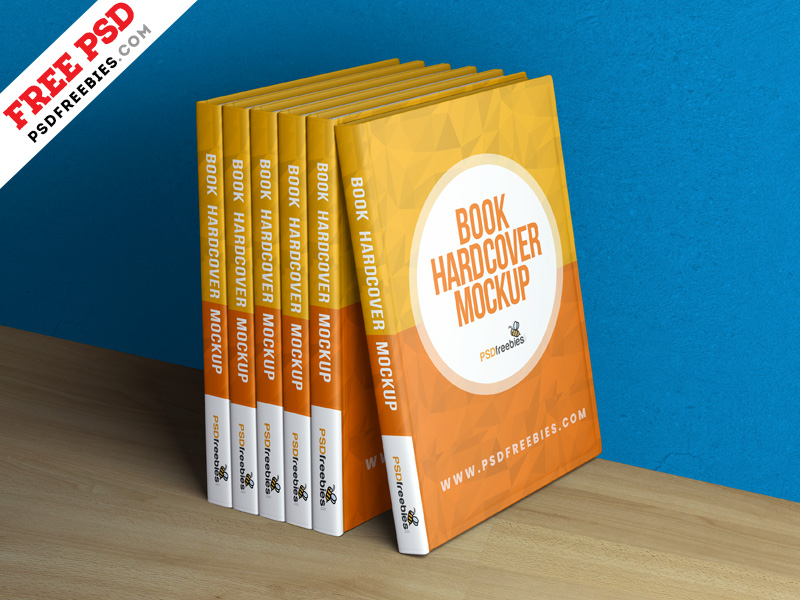 Book Hardcover Mockup PSD