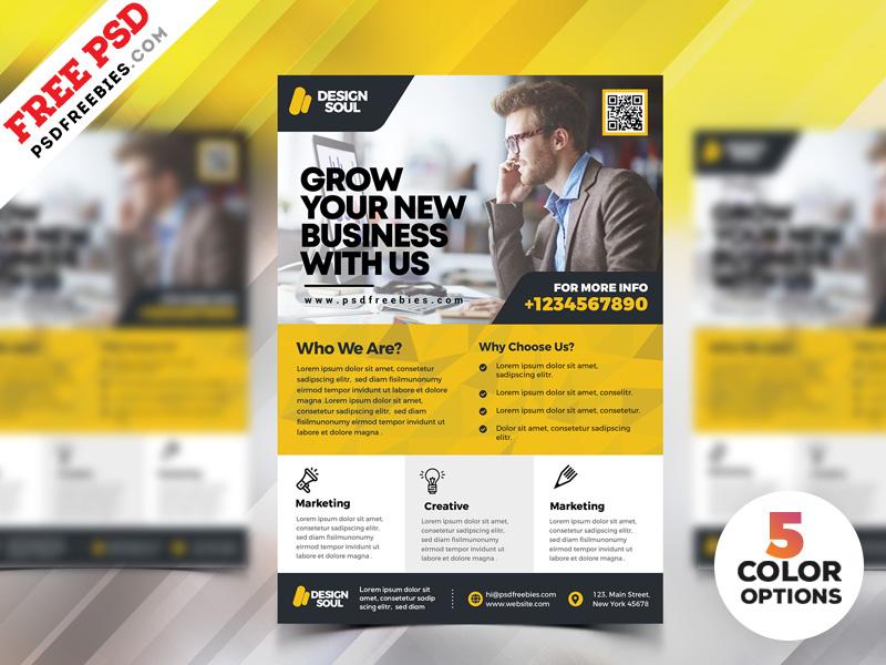 Corporate Flyer Design PSD Templates
