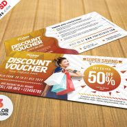 Free Discount Voucher Templates PSD