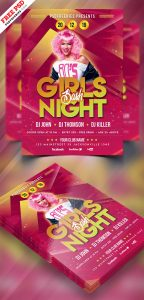 Girls Party Flyer PSD Template